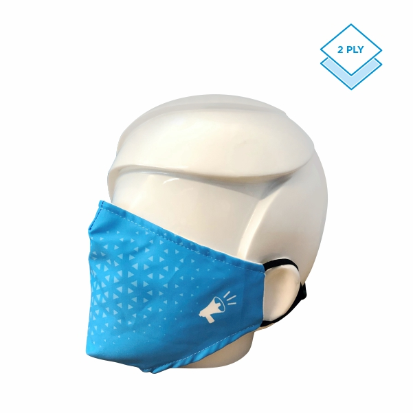 2 ply face mask with filter pocket